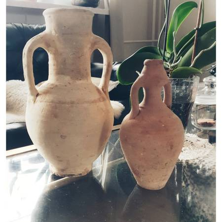 Amfora ceramiczna - dekoracja na stół lub półkę