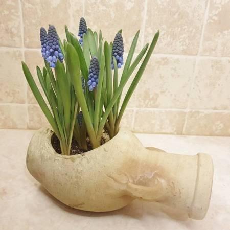 Osłonka, amfora ceramiczna leżąca - 11 x 22 cm